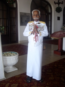 The head steward at Colombo's Galle Face Hotel