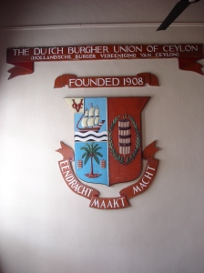 The entrance hall of the Dutch Burgher Union