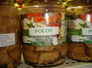 polos, or young jackfruit