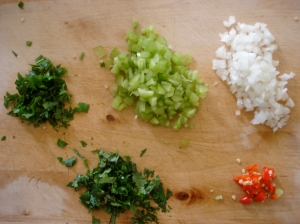 Tha Flava Unit (chopped parsley, cilantro, celery, onion, pepper)