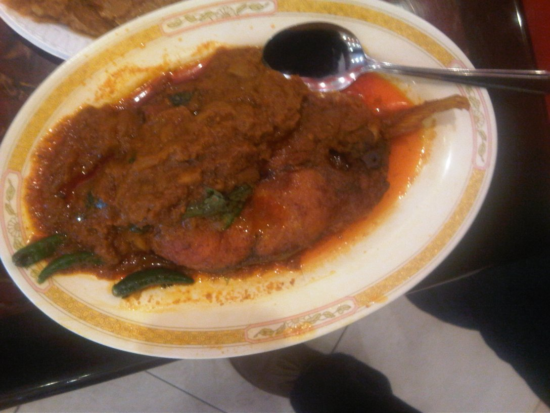 Bhetki bhortha (a white fish curry)