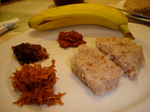 A traditional Sri Lankan New Years' breakfast