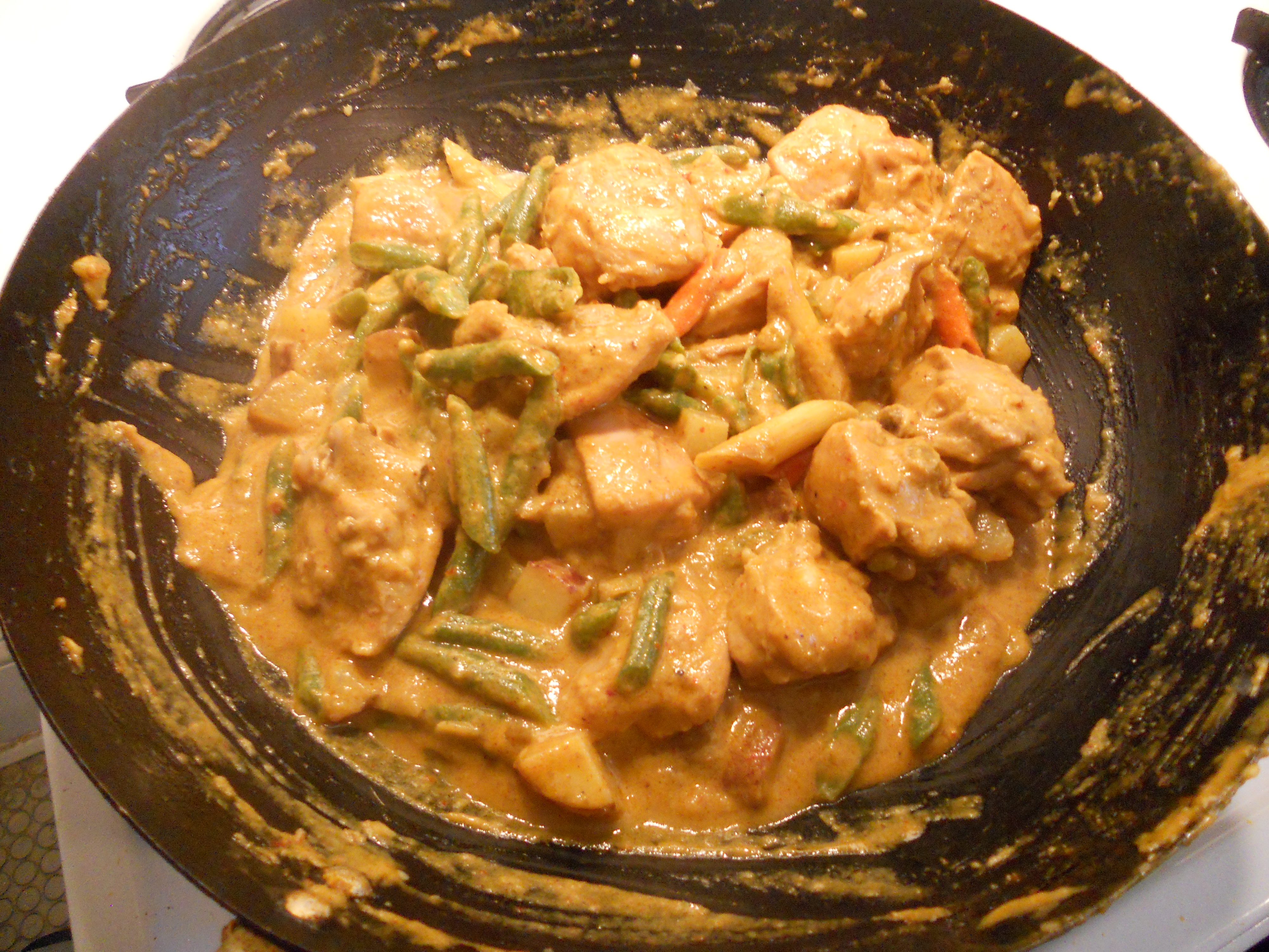 Pan asian lao curried chicken rice curry for Ano thai lao cuisine