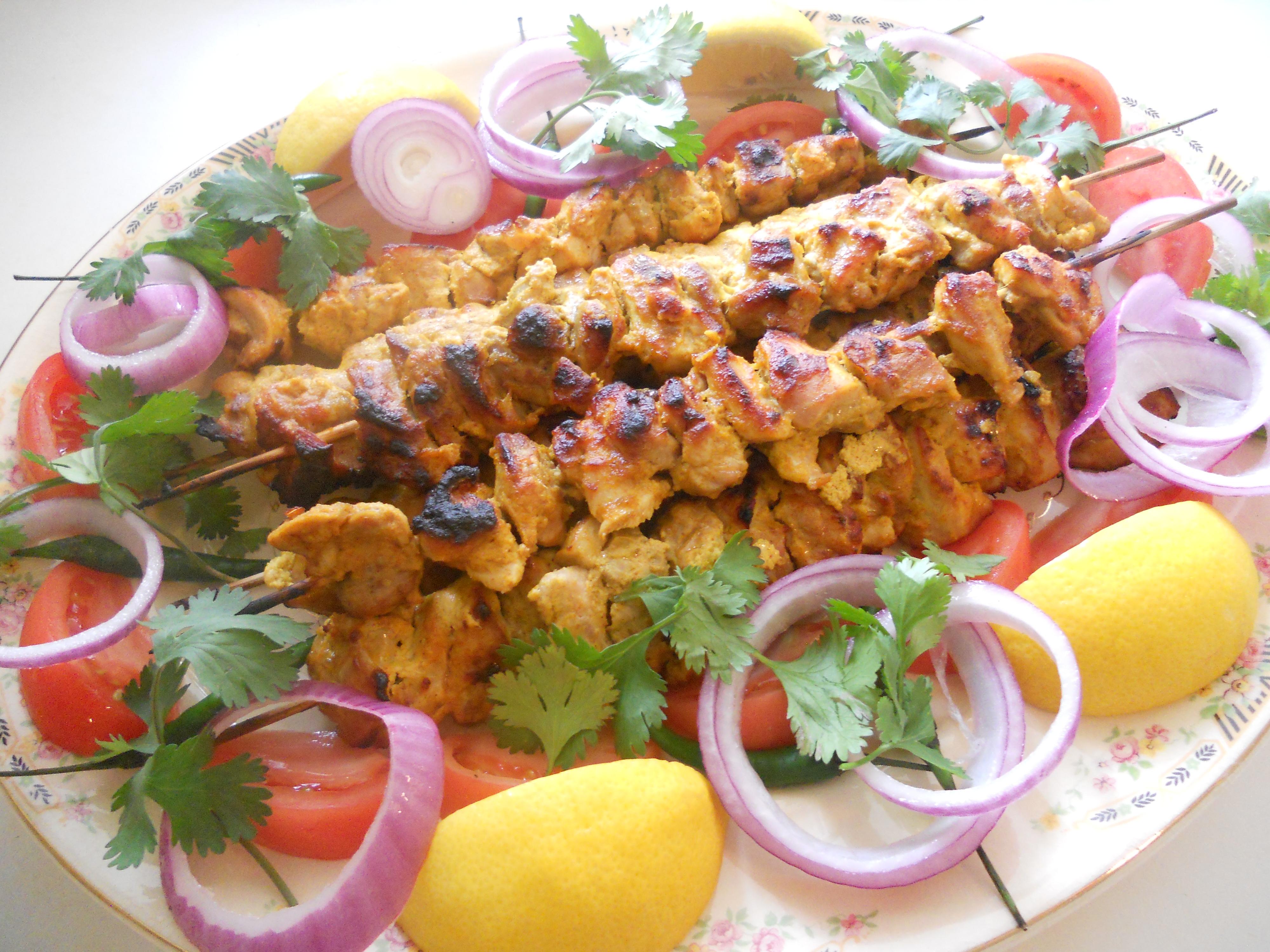 Pan asian nepali grilled chicken kukhura ko sekuwa rice curry nepali grilled chicken forumfinder Images