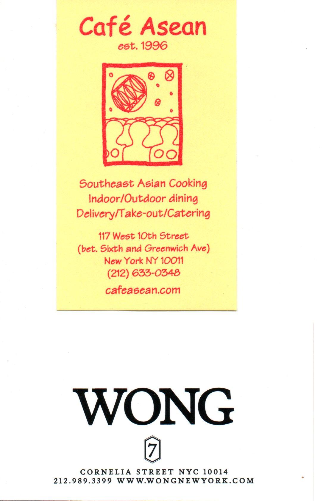 Cafe Asean Nyc Menu