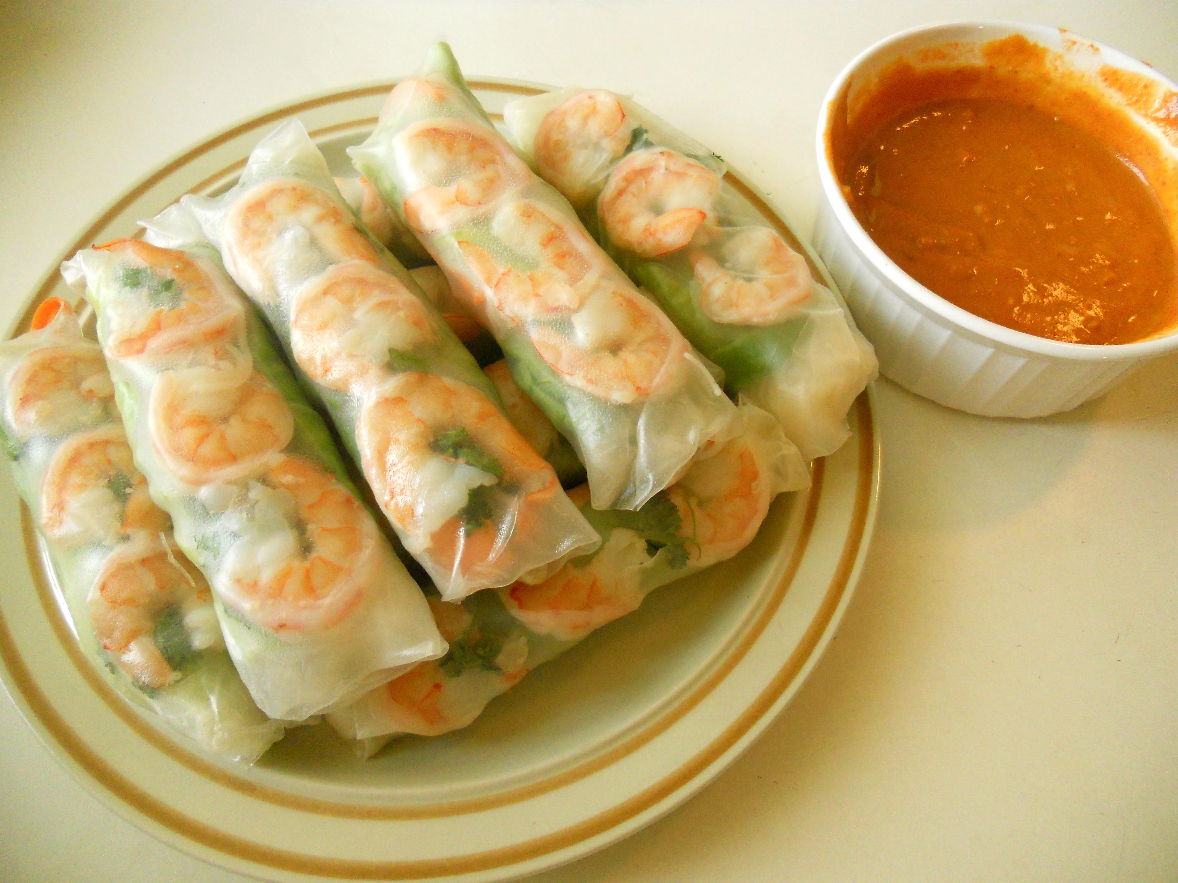 Pan Asian Summer Rolls Goi Cuon Vietnam Rice Amp Curry