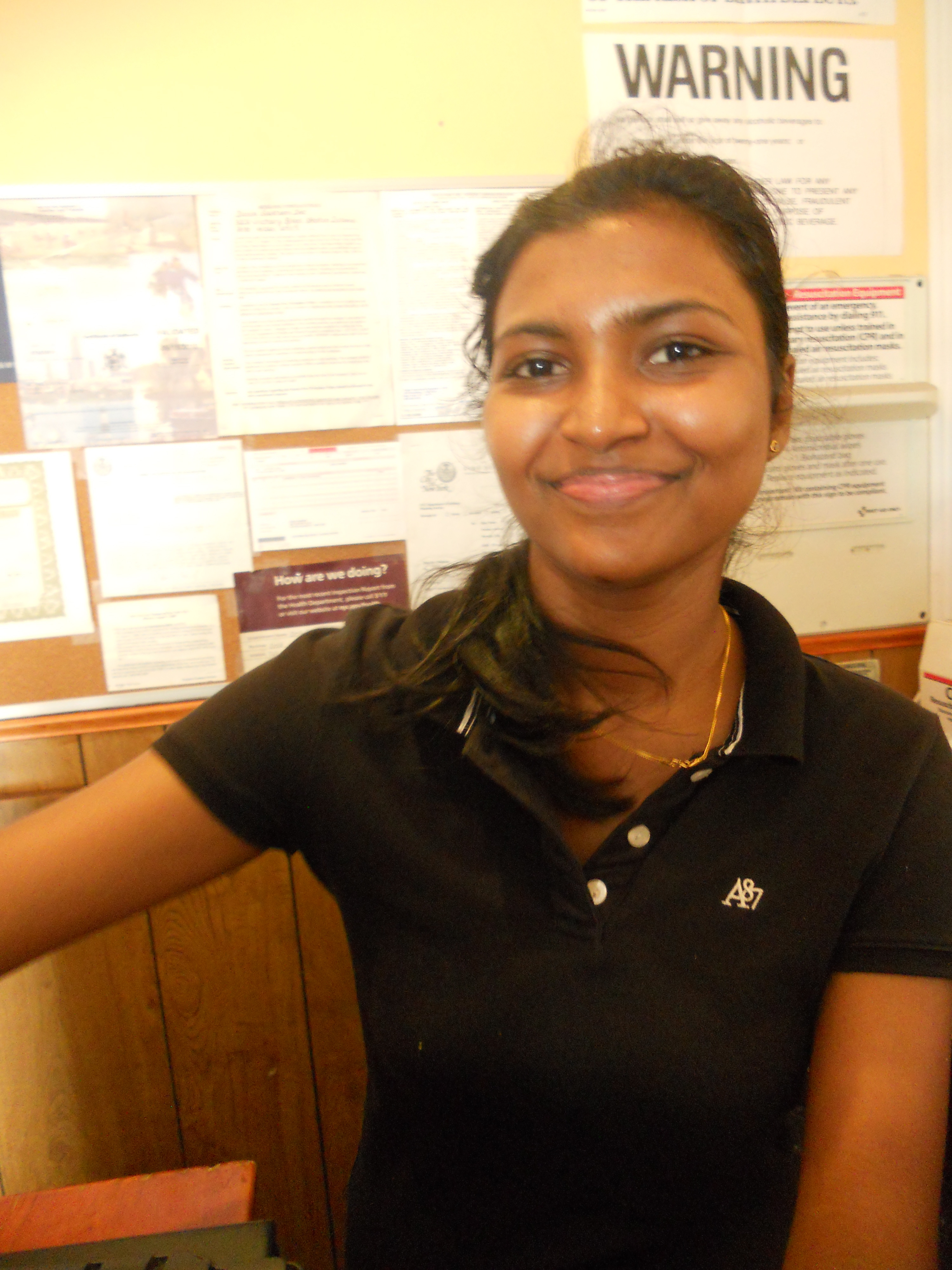 Exceptional The Waitress At Dosa Garden Restaurant. Staten Island ...