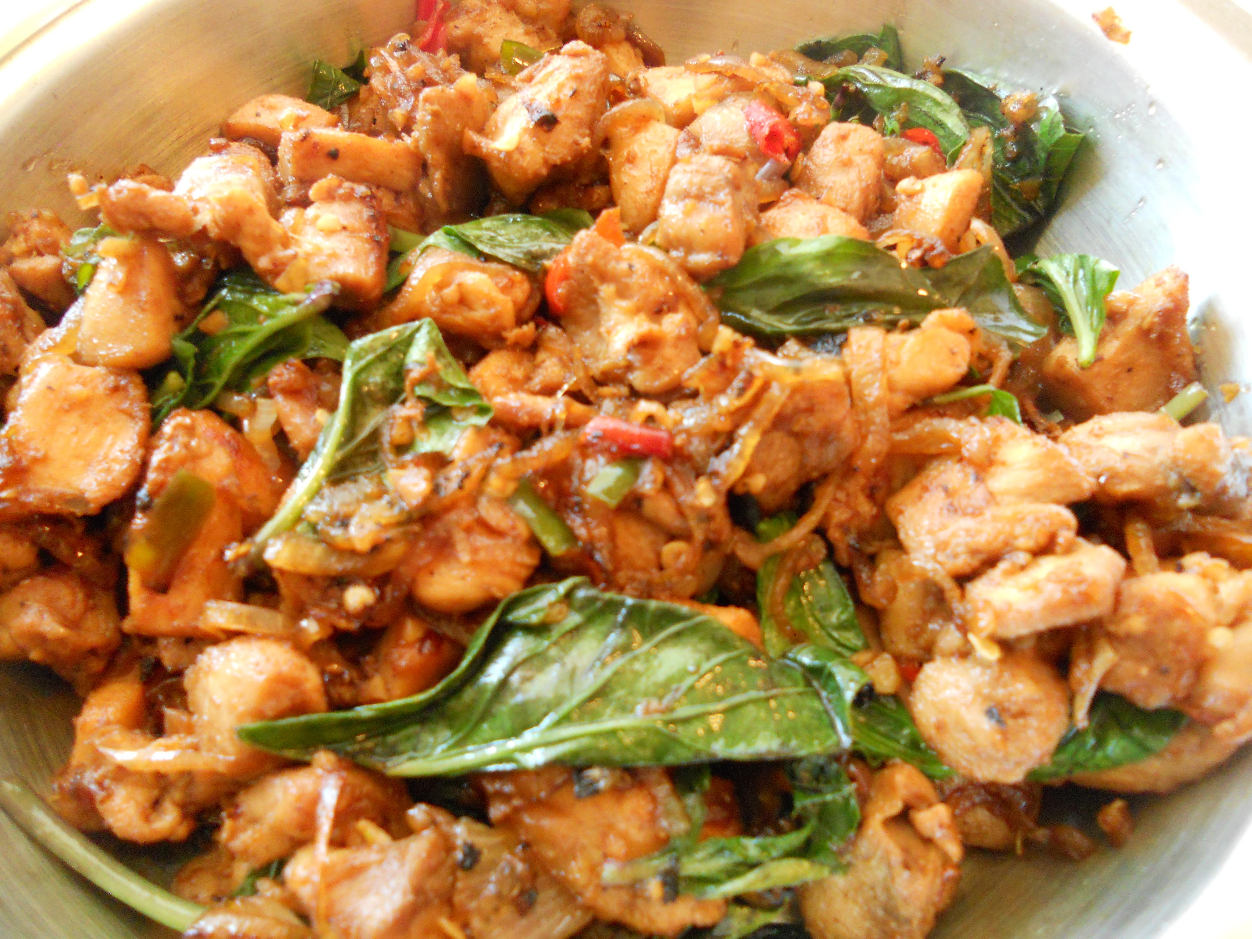 Pan Asian: Basil Chicken (Gai Pad Krapao) – Thailand ...