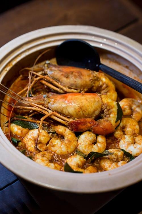 claypot prawn curry