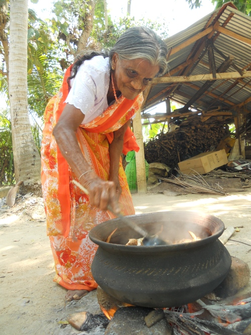 Leela whips up a pot of her signature dish