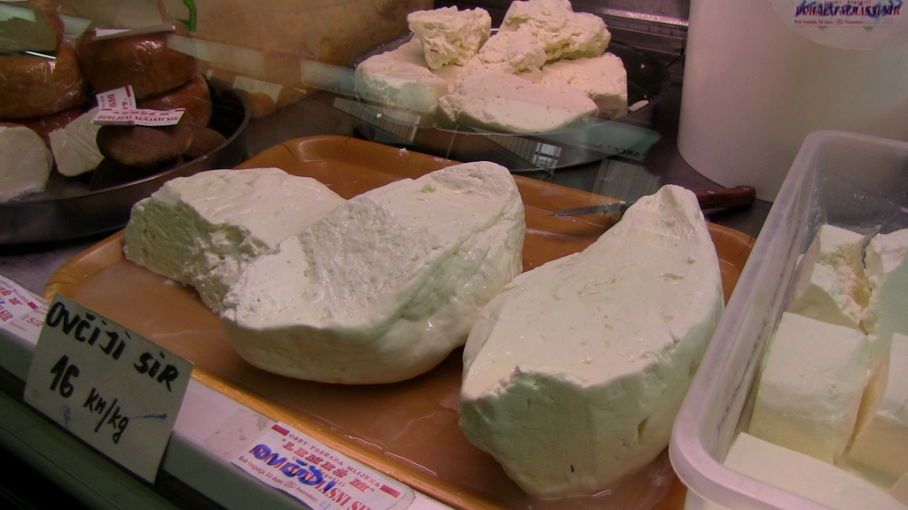 one of the many fresh cheeses available