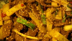 Pan Asian: Sesame Beef with Bamboo Shoots (Vietnam)