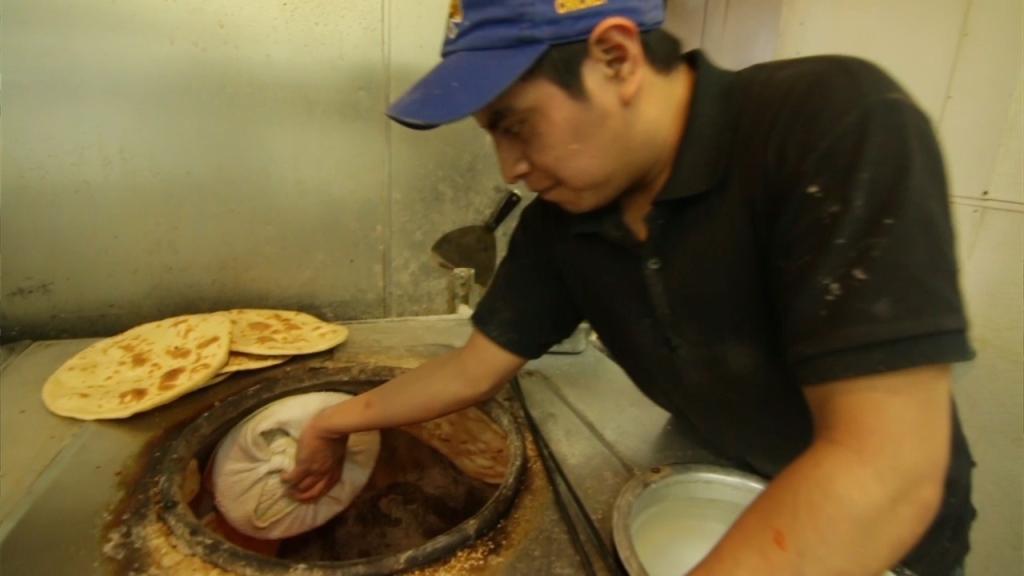 Making naan at Mithaas